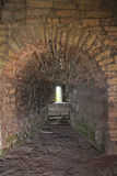 Лазейка монархической башни крепости Oreshek около Shlisselburg, России Стоковая Фотография RF