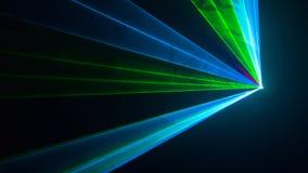 Лазерный луч диско выставки Лучи цветов Стоковые Изображения RF