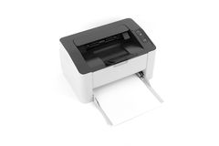 Лазерный принтер изолированный на белой предпосылке Стоковая Фотография