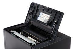 Лазерный принтер с раскрытой обложкой Стоковое Фото