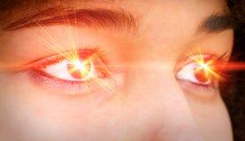 Лазер глаза стоковое фото rf