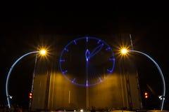 Лазер запроектированные часы стоковое фото rf