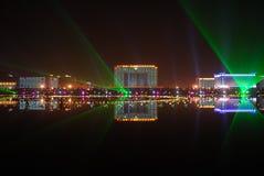 Лазер и здание 1 стоковое фото