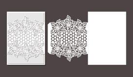 Лазер отрезал шаблон конверта для карточки свадьбы приглашения стоковое изображение