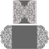Лазер отрезал шаблон конверта для карточки свадьбы приглашения стоковые фото