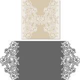 Лазер отрезал шаблон конверта для карточки свадьбы приглашения стоковые фотографии rf