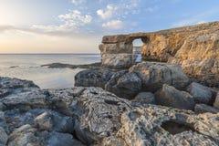 Лазурное окно Мальта Стоковое фото RF