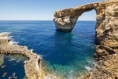 Лазурное окно - остров Gozo, Мальты Стоковые Изображения