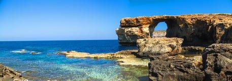 Лазурное окно, свод острова Gozo, Мальты Стоковые Изображения