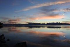 Лаке Таюое на заходе солнца, Калифорния, США Стоковое Изображение RF