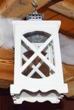 Лампа белого рождества Стоковые Изображения