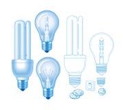 Лампа вектора Стоковые Изображения RF