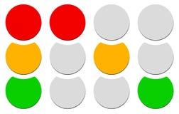 Лампа движения, светофор, значок семафора иллюстрация вектора