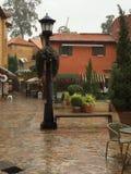 Лампа в дожде Стоковое Фото