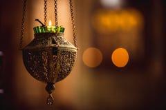 Лампа значка в церков Стоковое фото RF