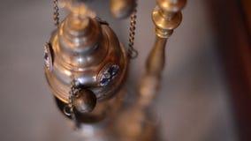 Лампа значка смертной казни через повешение в церков сток-видео
