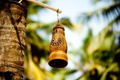 Лампа и пальма глины Стоковые Фото