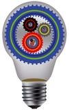 Лампа и шестерня Стоковое Изображение