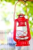 Лампа красного цвета сада Стоковое Изображение
