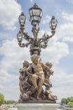 Лампа на Pont Александре III. Стоковые Изображения RF