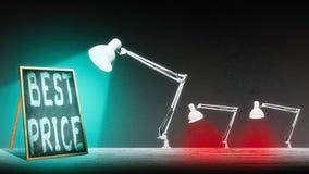 Лампа освещает классн классный Стоковая Фотография RF