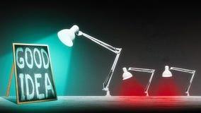Лампа освещает классн классный Стоковые Изображения