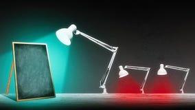 Лампа освещает классн классный Стоковые Изображения RF