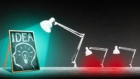 Лампа освещает классн классный Стоковые Фото