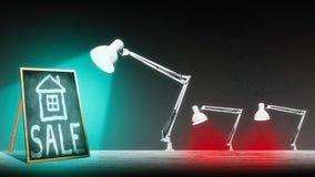 Лампа освещает классн классный Стоковая Фотография