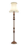 Лампа пола на белой предпосылке перевод 3d Стоковое Фото