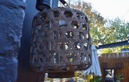 Лампа сделанная из бамбукового weave стоковая фотография rf
