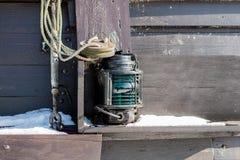 Лампа сигнала корабля Грузите освещение на плавая сосуде в th Стоковая Фотография RF