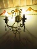 Лампа стены, отделка стен в ресторане Стоковая Фотография RF