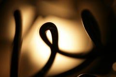 Лампа с деталями провода стоковая фотография rf
