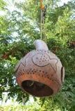Лампа сделанная из тыквы Стоковые Фотографии RF