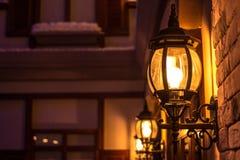 Лампа установленная стеной светлая Стоковая Фотография