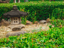 Лампа утеса в саде Стоковые Фото