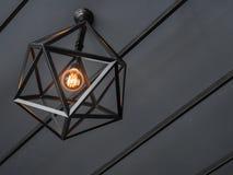 Лампа цвета на черно-белой предпосылке Стоковая Фотография RF