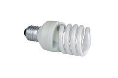 Лампа энергосберегающая на белой предпосылке стоковое изображение rf