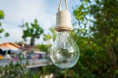 Лампа для украшения в саде с предпосылкой Bokeh, s стоковые фотографии rf