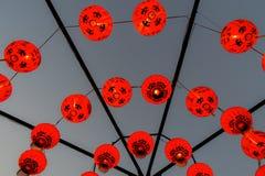 Лампа Chiness красная или красный баллон Стоковые Изображения