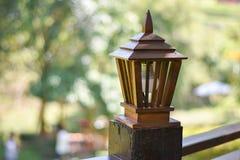 Лампа Teak деревянная Стоковое Изображение RF
