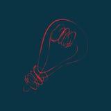 Лампочка накаливания Стоковые Фото