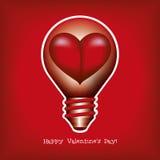 Лампочка - сердце. Стоковая Фотография RF
