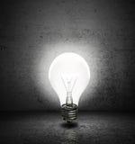 Лампочка с комнатой Стоковые Фотографии RF
