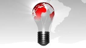 Лампочка с планетой в ей мир принципиальной схемы новый бесплатная иллюстрация