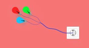 Лампочки иллюстрация вектора