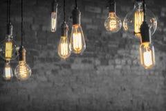Лампочки Edison Стоковые Изображения RF