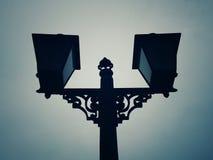 Лампы или штендеры на всем пути стоковые изображения rf