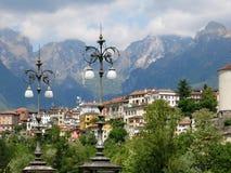 Лампы Италия Беллуно Montains стоковое изображение rf